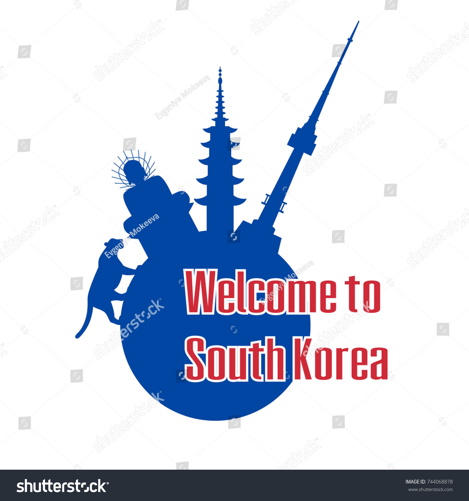 Welcome south korea poster symbols south stock vector 744068878 welcome to south korea poster with symbols of south korea vector illustration biocorpaavc Gallery