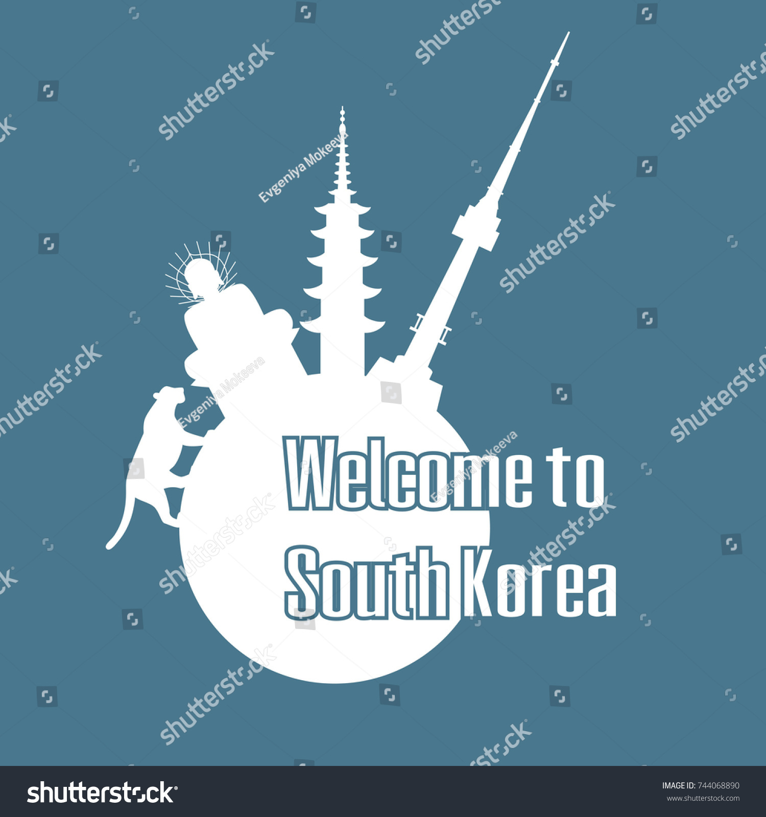Welcome south korea poster symbols south stock vector 744068890 welcome to south korea poster with symbols of south korea vector illustration biocorpaavc Gallery