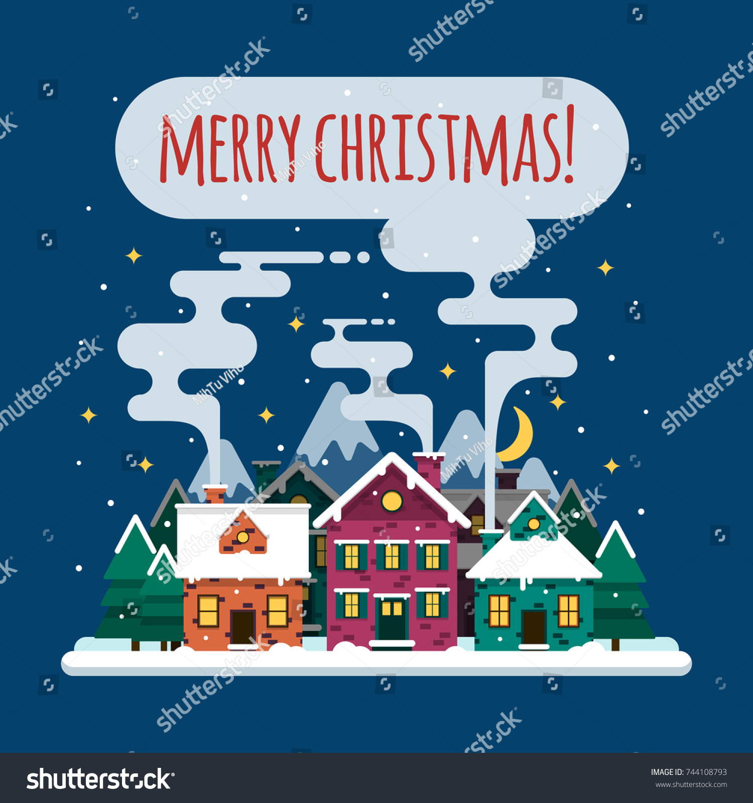Christmas Card Merry Christmas Happy New Stock Vector Royalty Free