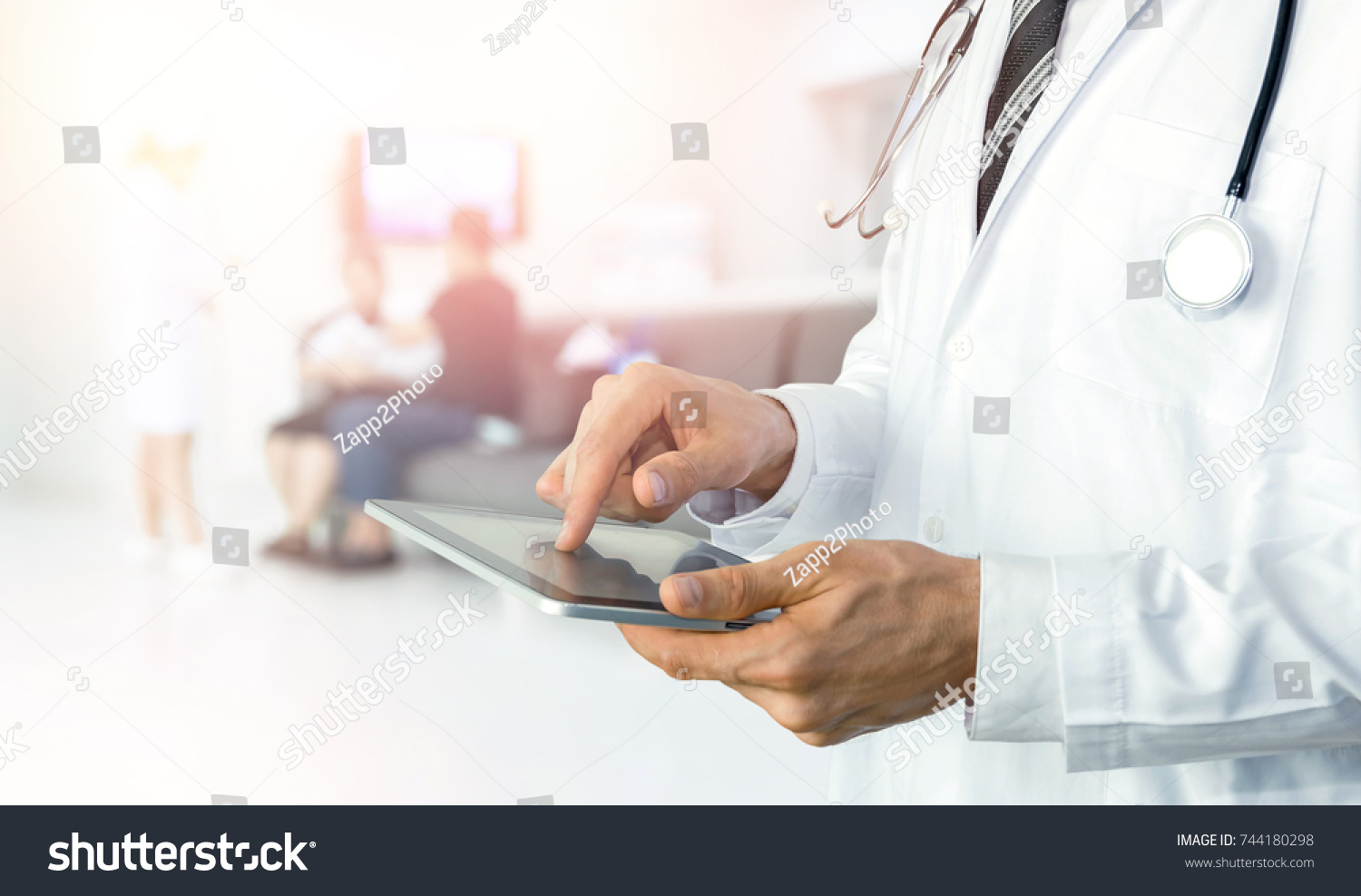 Smart Health Care Internet Things Hospital Stock Photo Edit Now Remote Stethoscope Concept Diagram Of And Automation Management Technology With Paperless Doctor