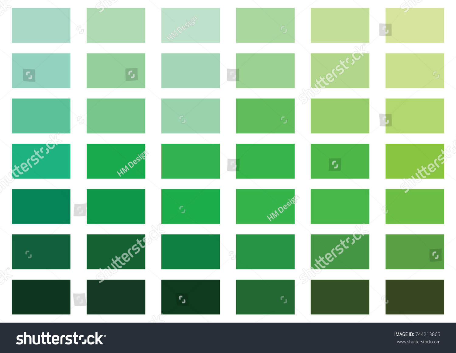 Green Color Palette Vector Illustration Stock Vector (Royalty Free ...