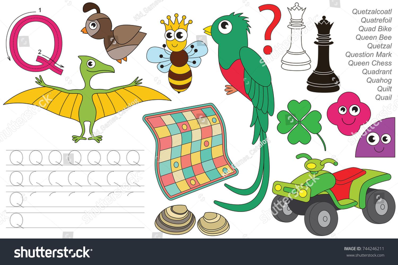 Letter q dot dot educational game stock vector 2018 744246211 letter q dot to dot educational game for kids altavistaventures Gallery