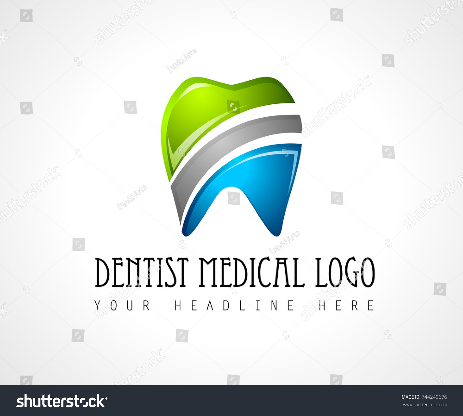 Dentist medical clinic logo design brand stock vector 744249676 dentist medical clinic logo design for brand identity company profile or corporate logos with clean biocorpaavc