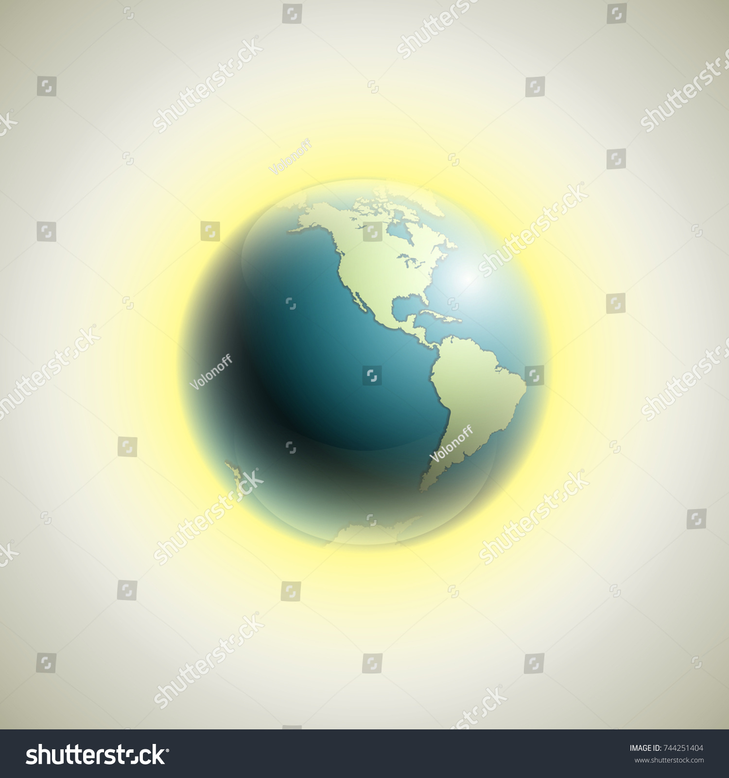 World map rising sun banner globe stock vector 744251404 shutterstock world map with rising sun banner globe icon in space sunlight poster planet earth gumiabroncs