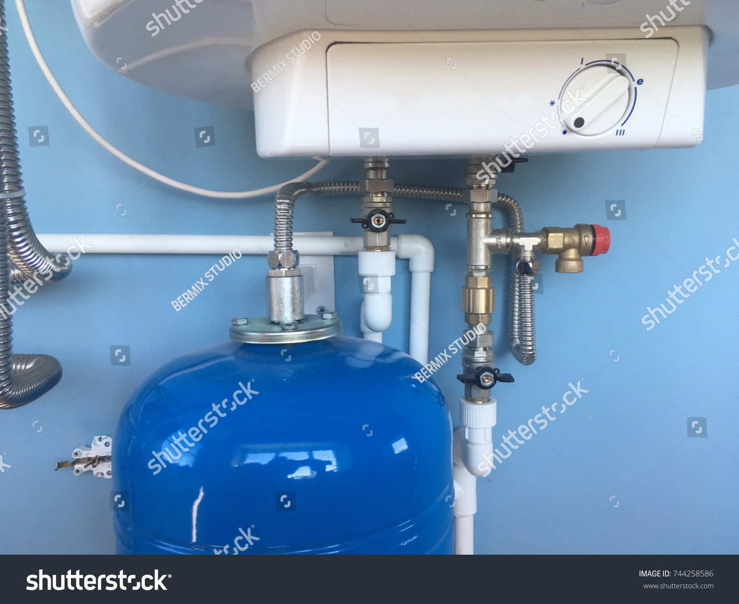 Connection Home Water Heater Fixing Electric Stock Photo (Edit Now ...
