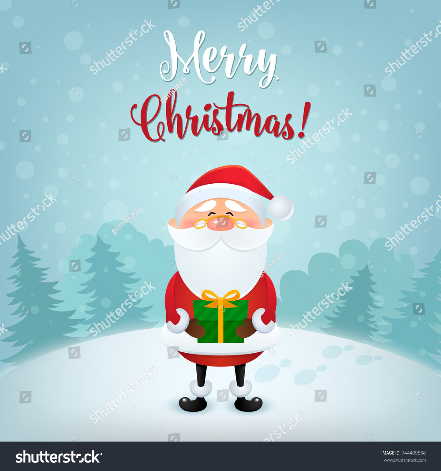 Merry Christmas Greeting Card Christmas And New Year Background