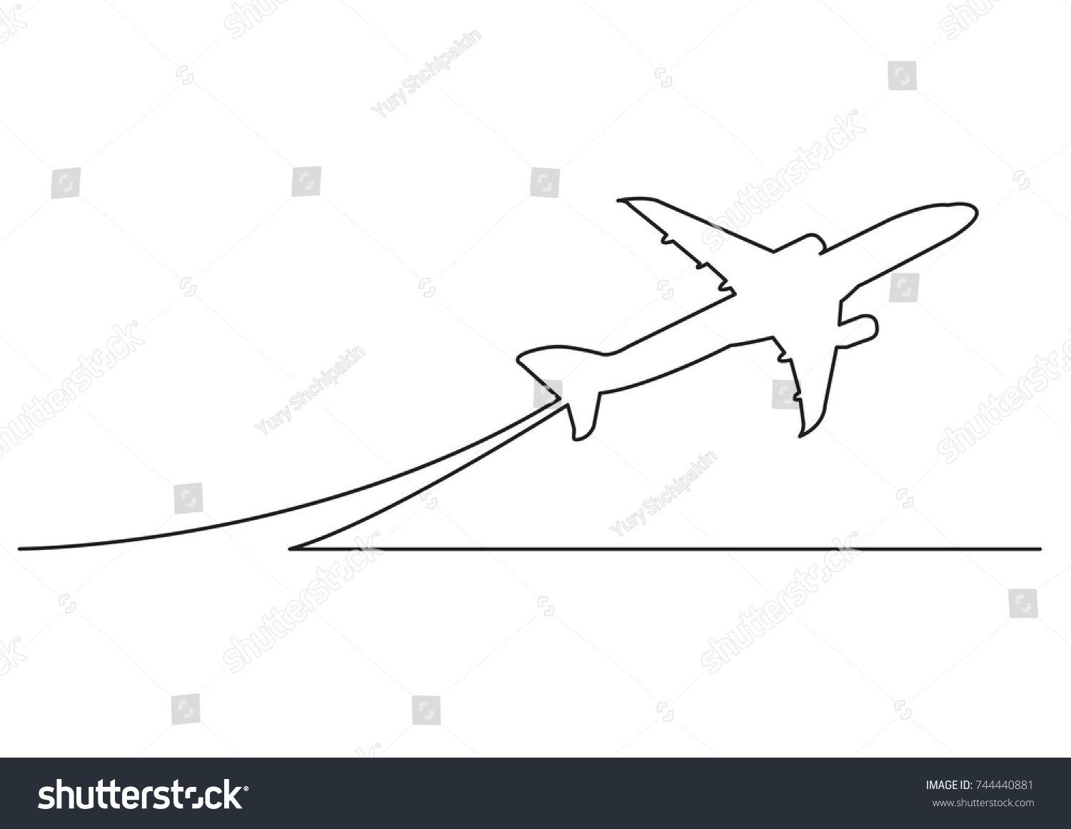 One Line Drawing Of Isolated Vector Object