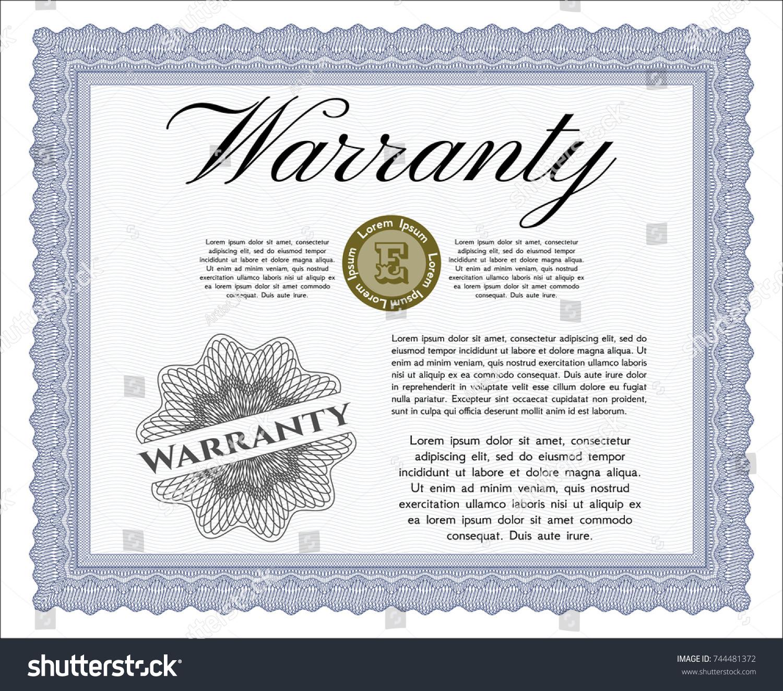Blue vintage warranty certificate template perfect stock vector hd blue vintage warranty certificate template perfect design detailed printer friendly yadclub Gallery