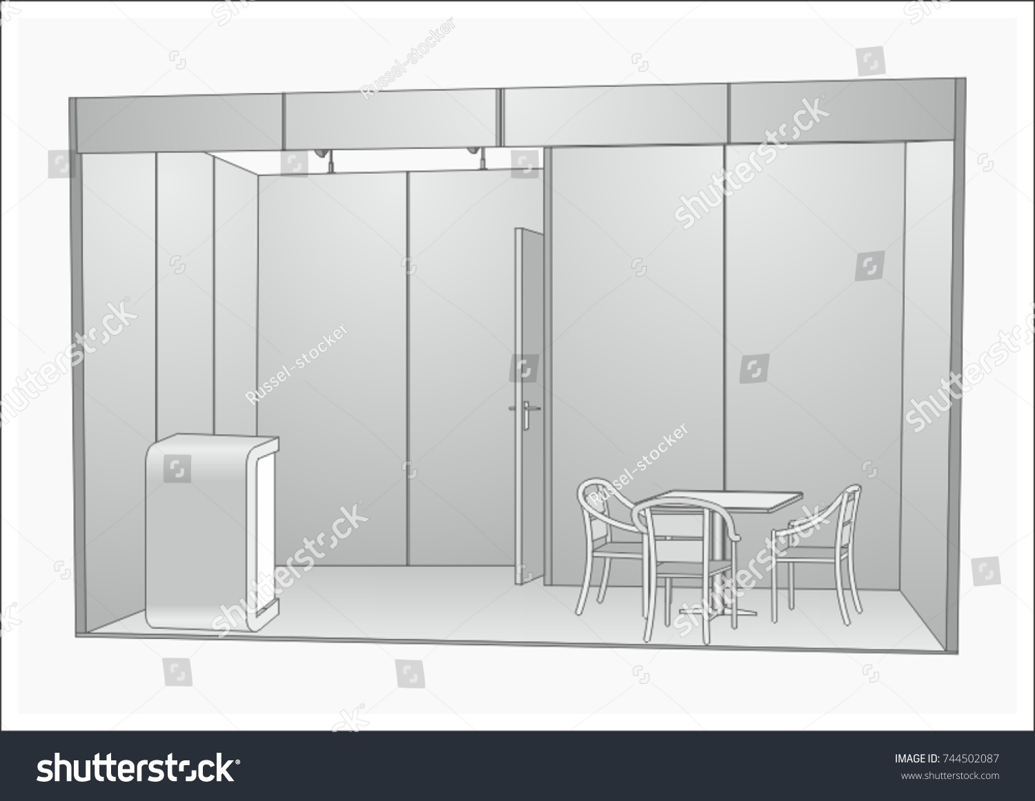 Exhibition Stand Design Drawings : Vector exhibition stand design concept blank stock vector royalty