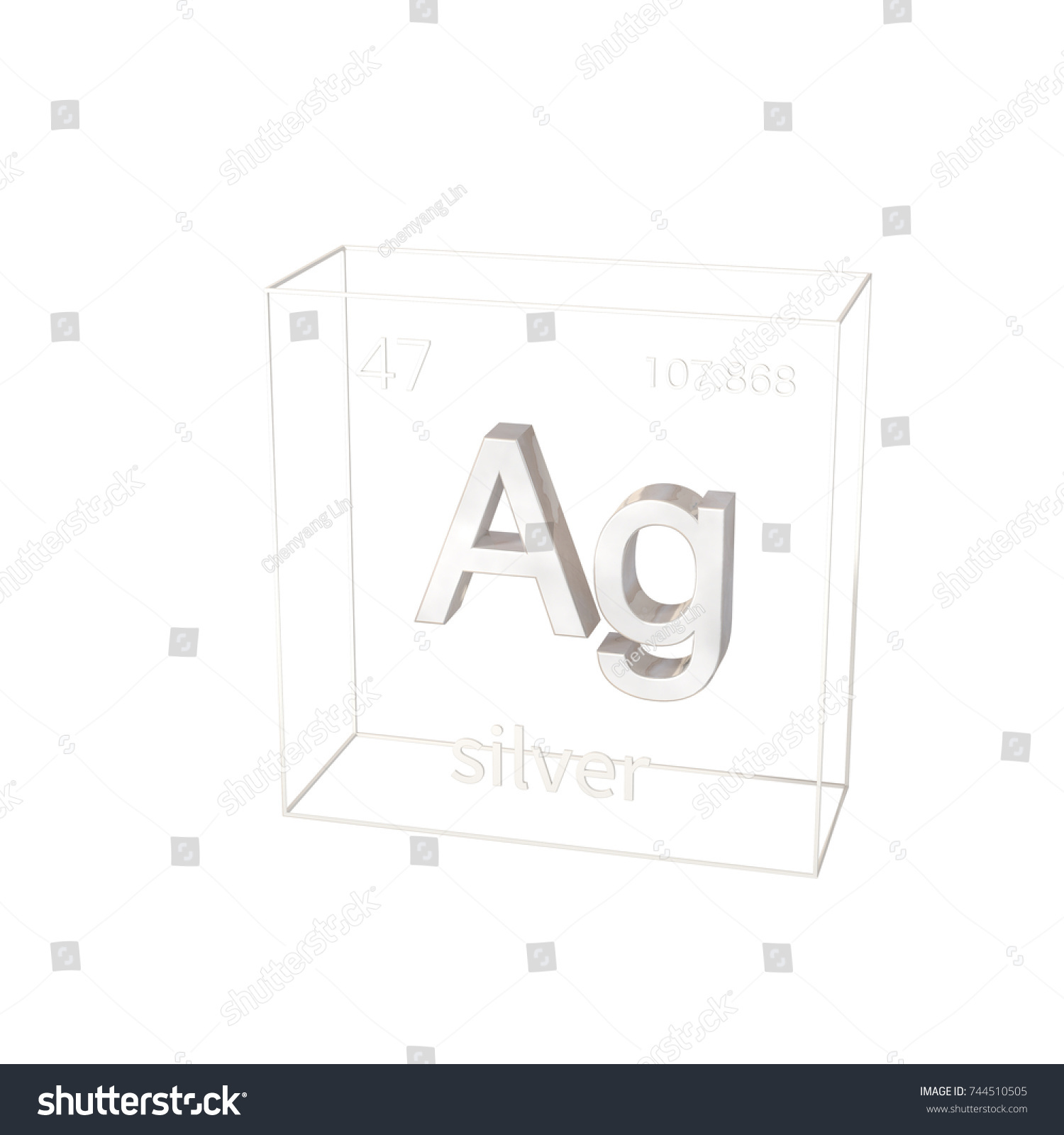 3d render silver chemical element atomic stock illustration 3d render silver chemical element atomic number and atomic weight chemical element of gamestrikefo Image collections