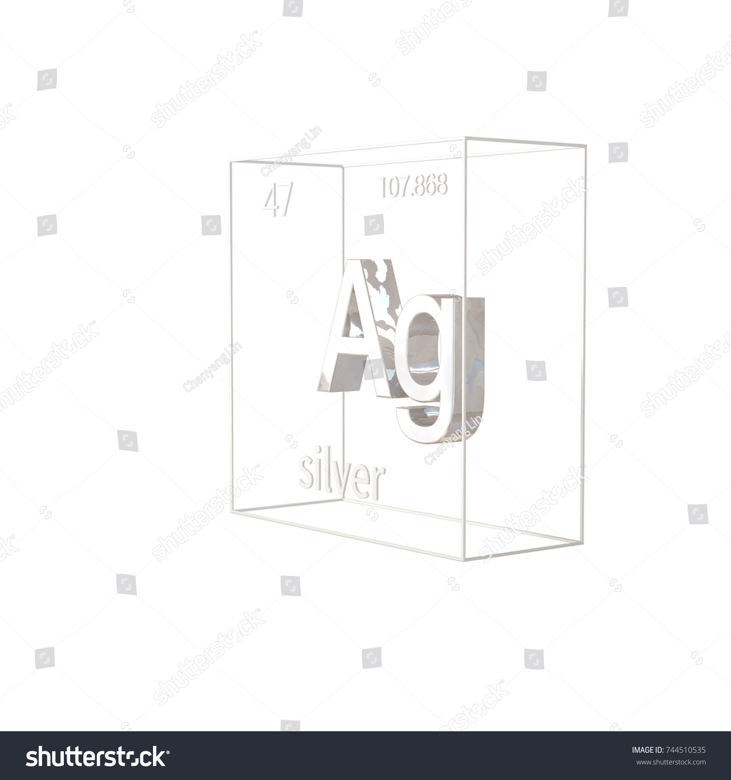 3d render silver chemical element atomic stock illustration 3d render silver chemical element atomic number and atomic weight chemical element of gamestrikefo Gallery