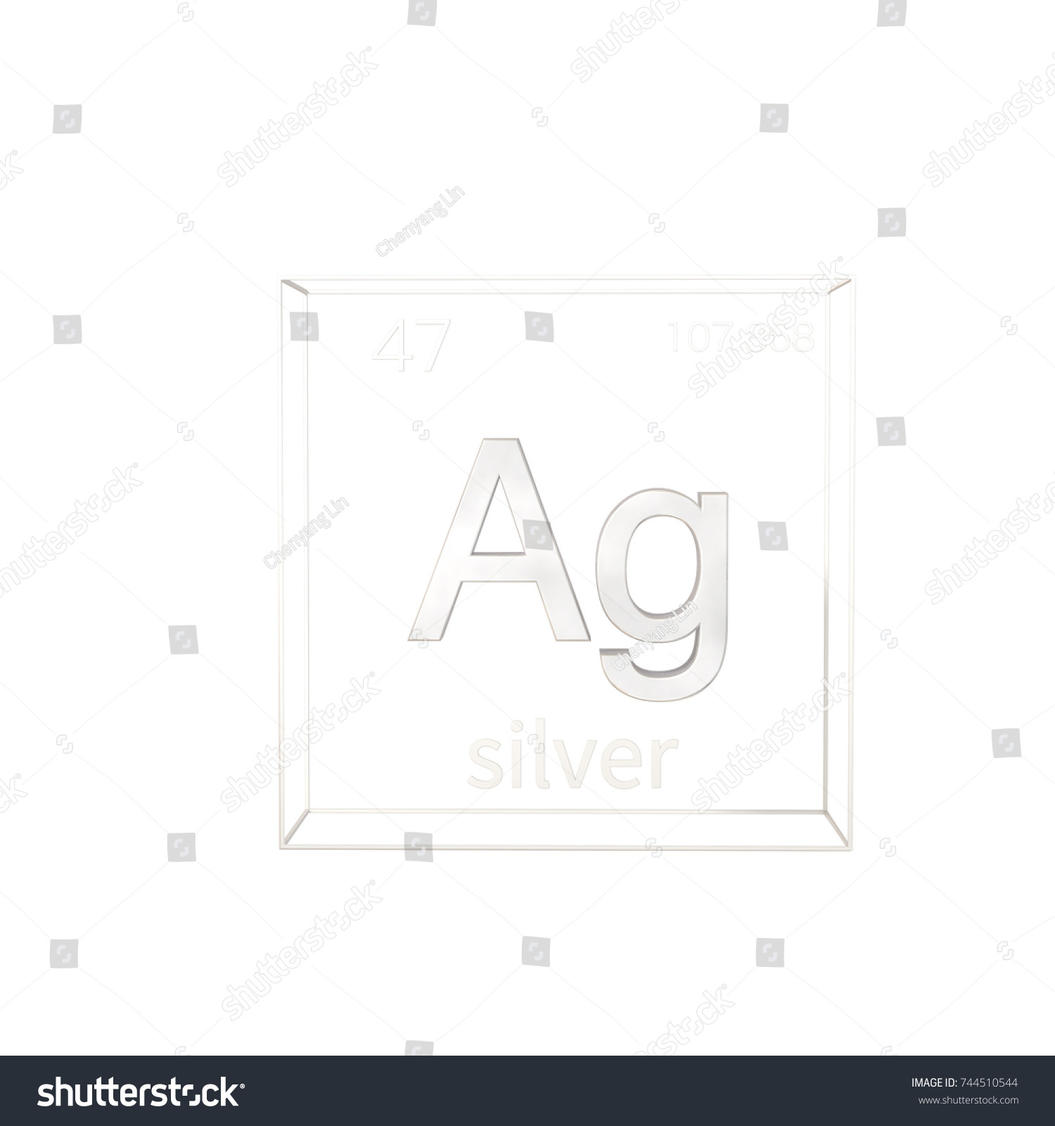 Ag symbol periodic table images symbol and sign ideas 3d render silver chemical element atomic stock illustration 3d render silver chemical element atomic number and urtaz Image collections