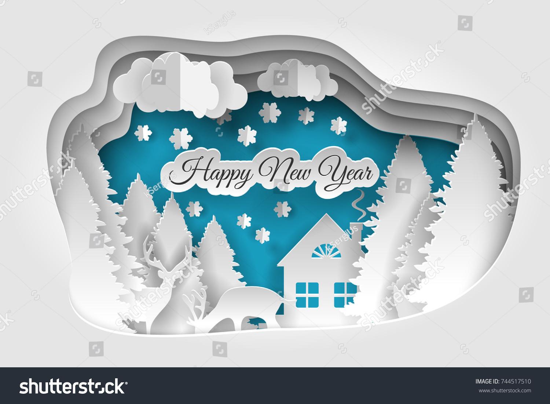 Creative Happy New Year 2019 Design Stock Vector Royalty Free