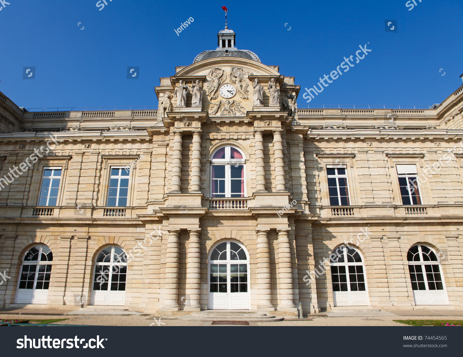 Front facade luxembourg palace palais de stock photo for Luxembourg homes