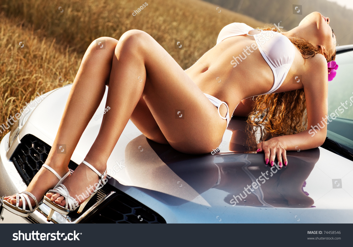 Free sexy girls in hood Young Sexy Woman On Car Hood Stock Photo Edit Now 74458546