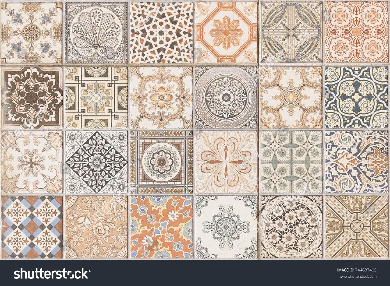 Ceramic Tile Pattern Elegant Vintage Tuscany Stock Photo (Edit Now ...