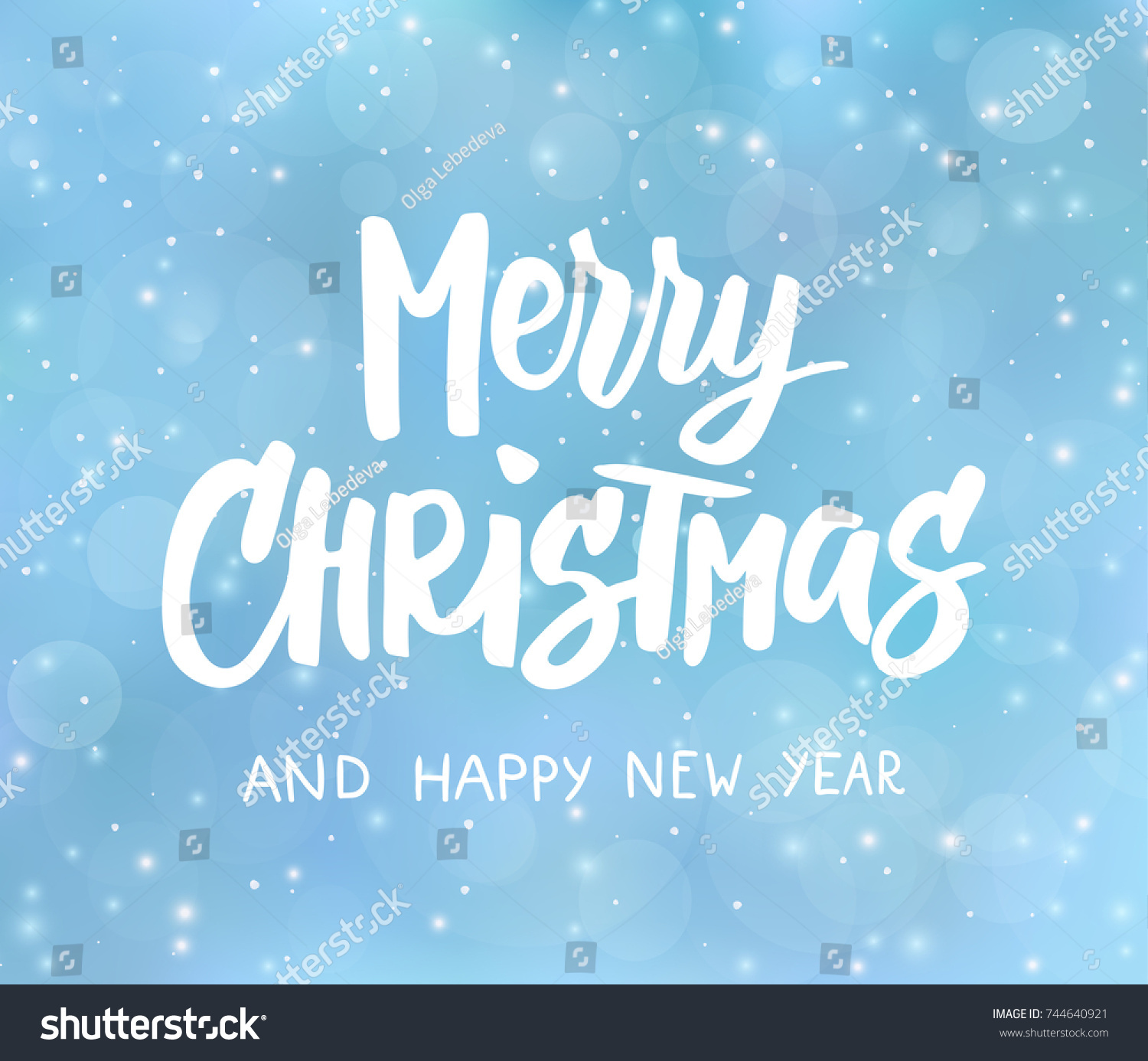 Merry christmas happy new year text stock vector 744640921 merry christmas and happy new year text hand drawn lettering holiday greetings quote kristyandbryce Images