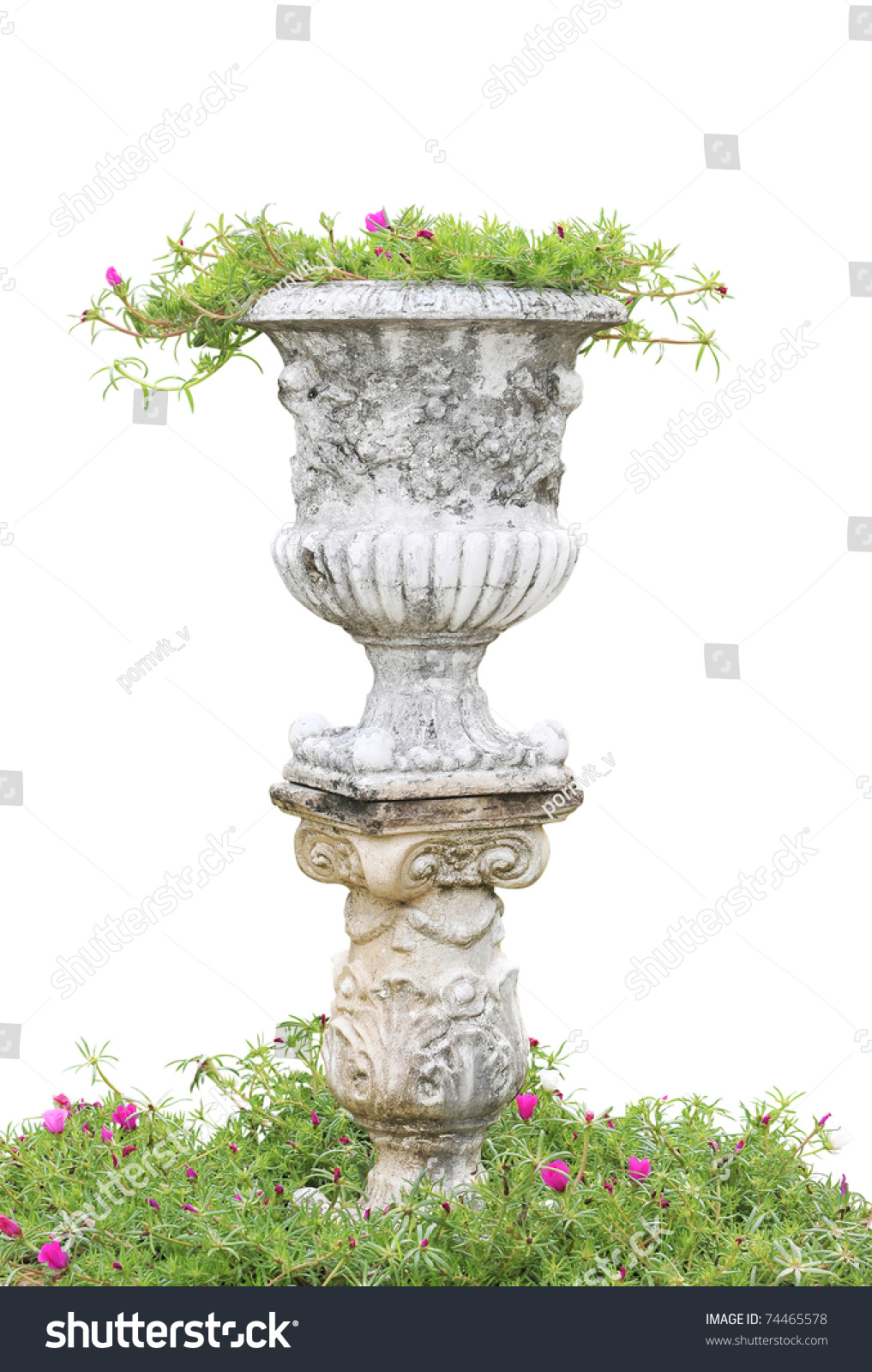 Roman Pillars Gardening Build Your Own Stock Photo 74465578
