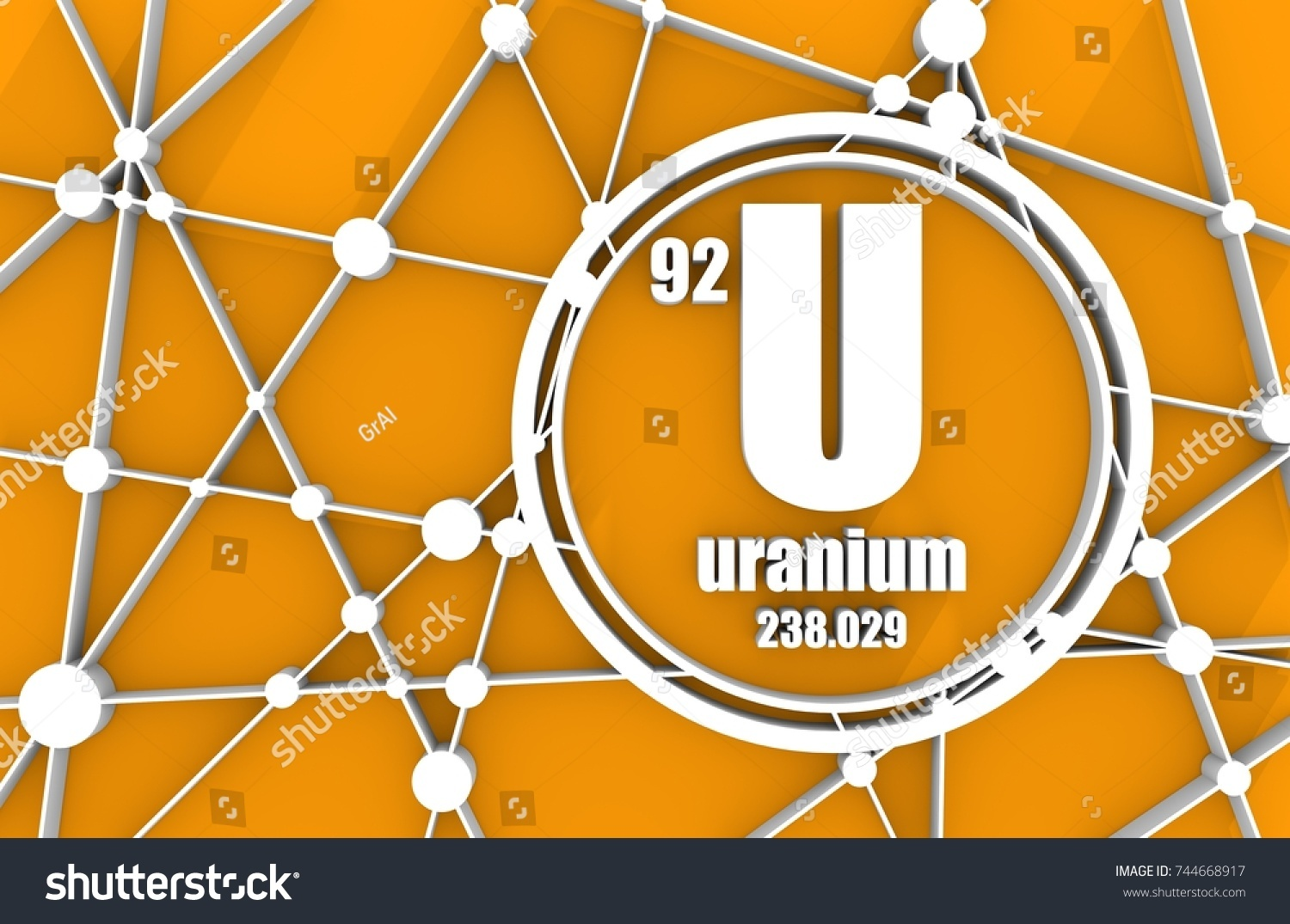 Uranium chemical element sign atomic number stock illustration sign with atomic number and atomic weight chemical element of periodic gamestrikefo Choice Image