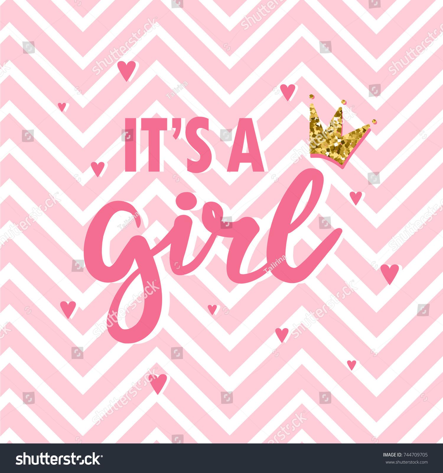 baby shower card newborn baby girl のベクター画像素材 ロイヤリティ