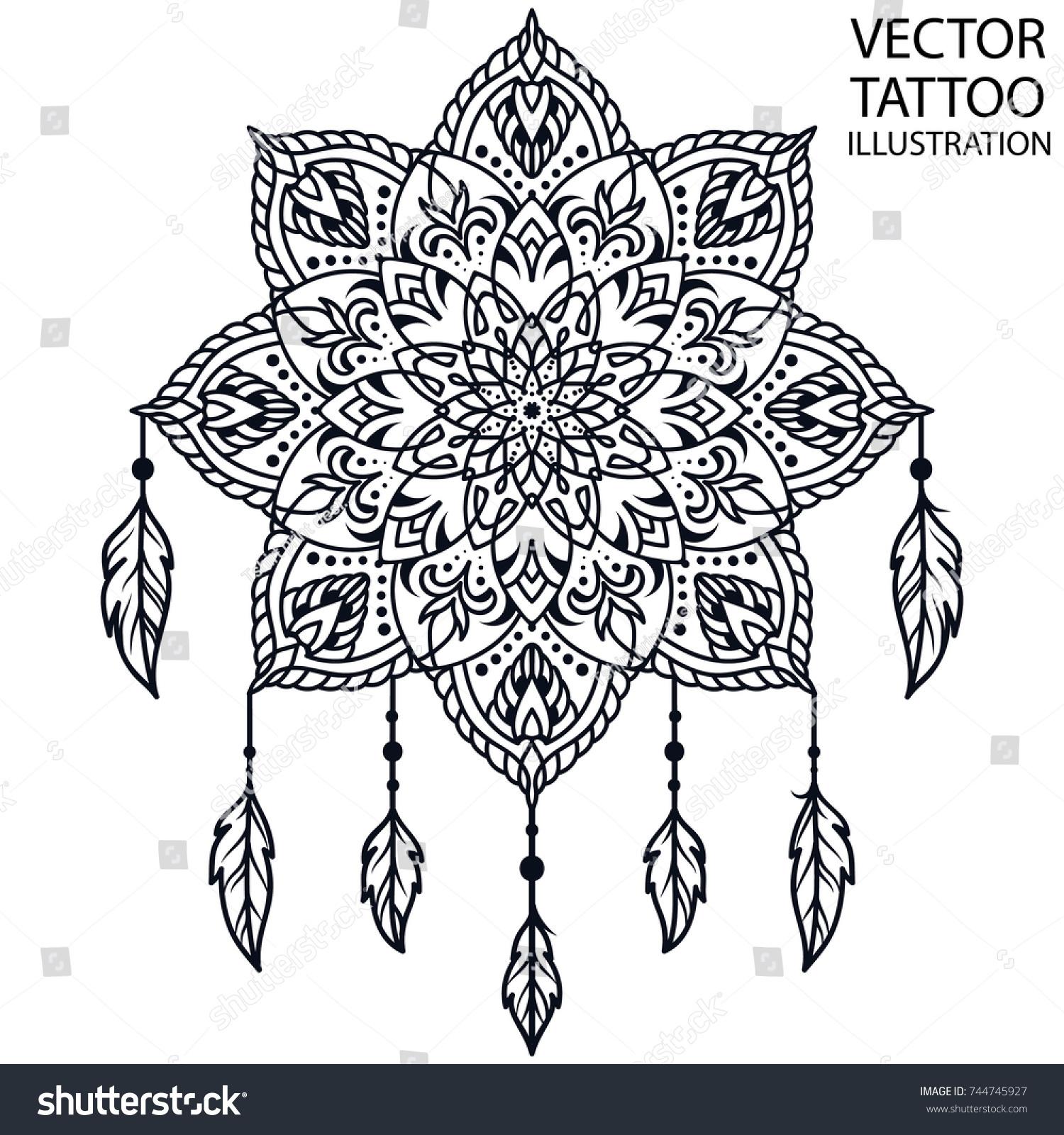 Dreamcatcher Tattoo For Shoulder Waist Blade Forearm Arm Chest