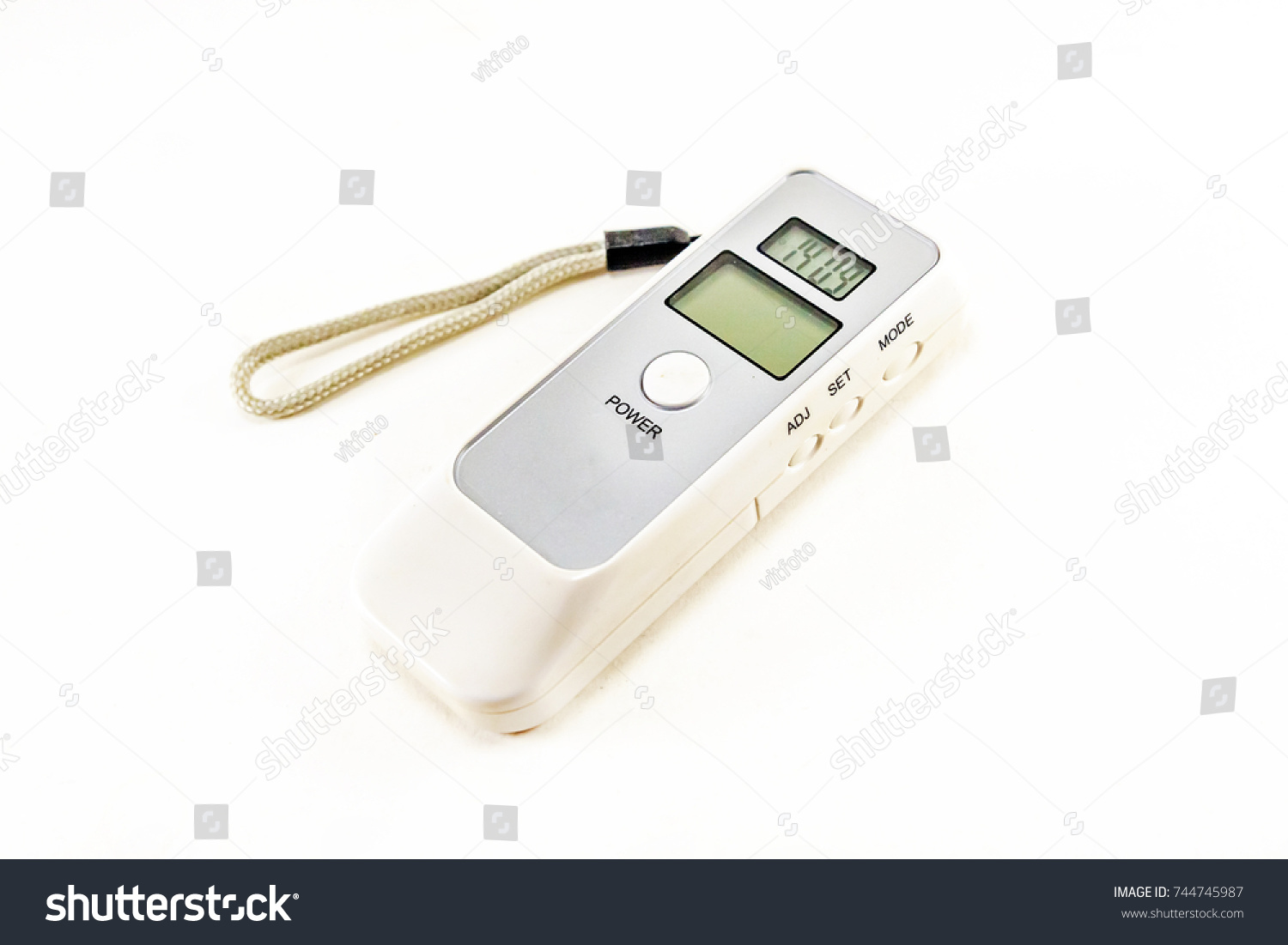 Digital Alcohol Breath Tester Isolated On White Background