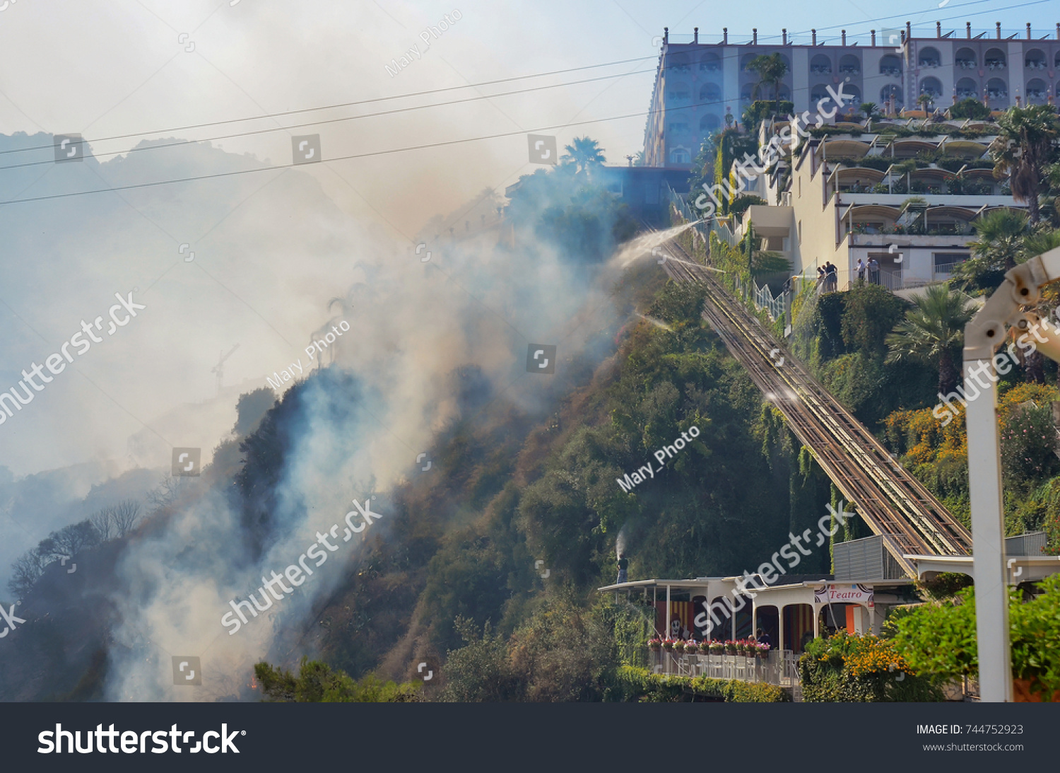 Letojanni Sicily Italy August 11 2017 Stock Photo 744752923 ...