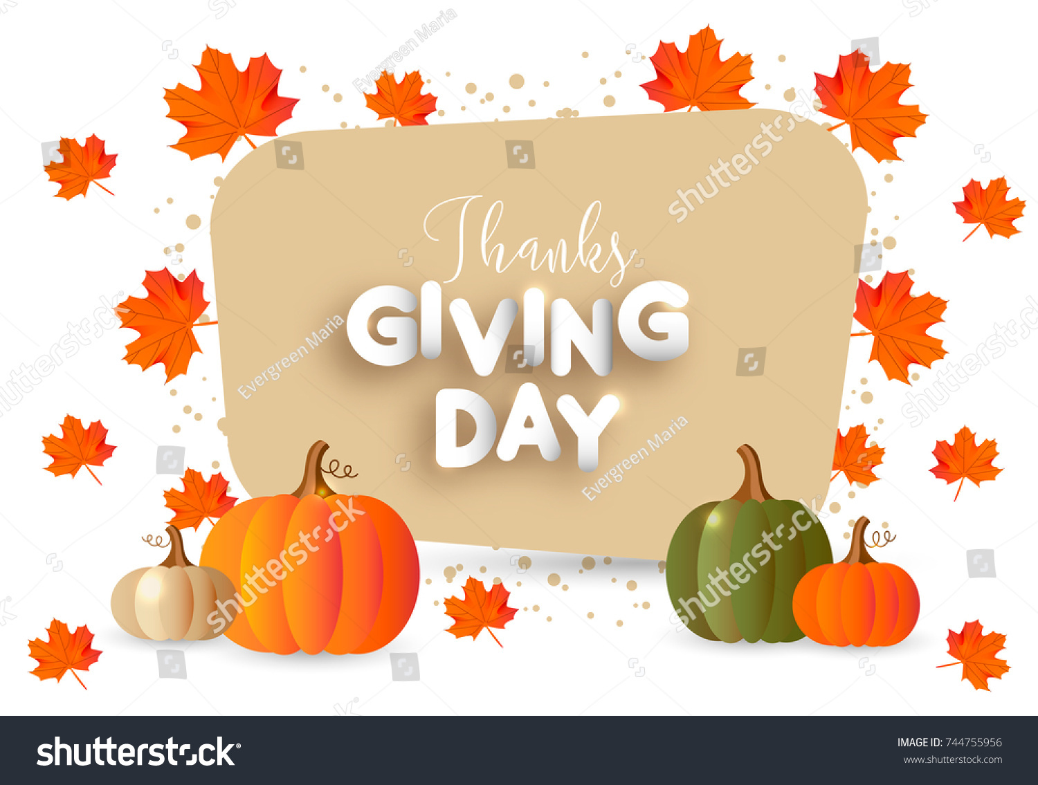 Happy thanksgiving day greeting card poster stock vector 744755956 happy thanksgiving day greeting card poster banner flyer autumn background with leaves m4hsunfo