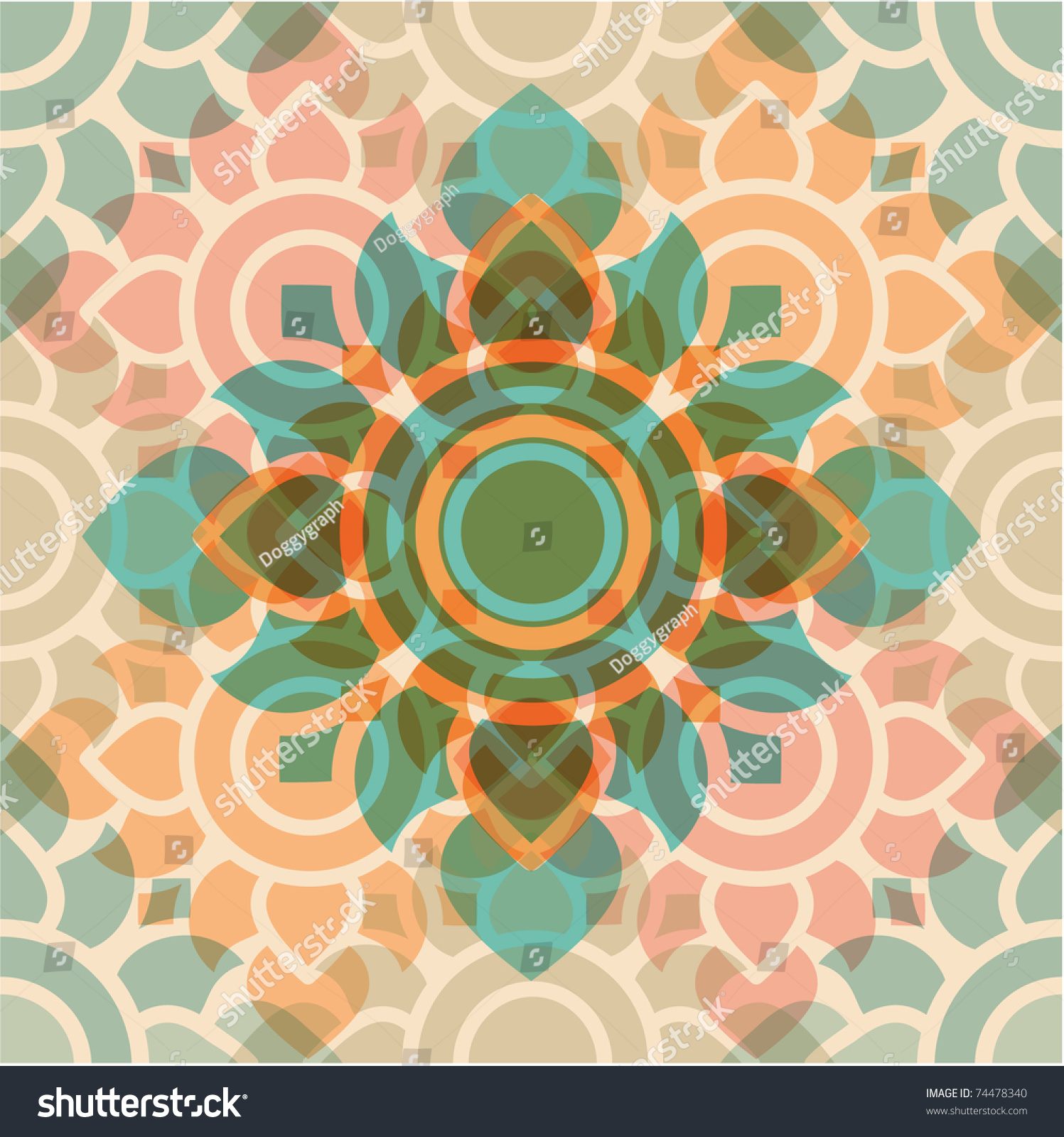 Thai Modern Art Traditional Pattern Stock Vector