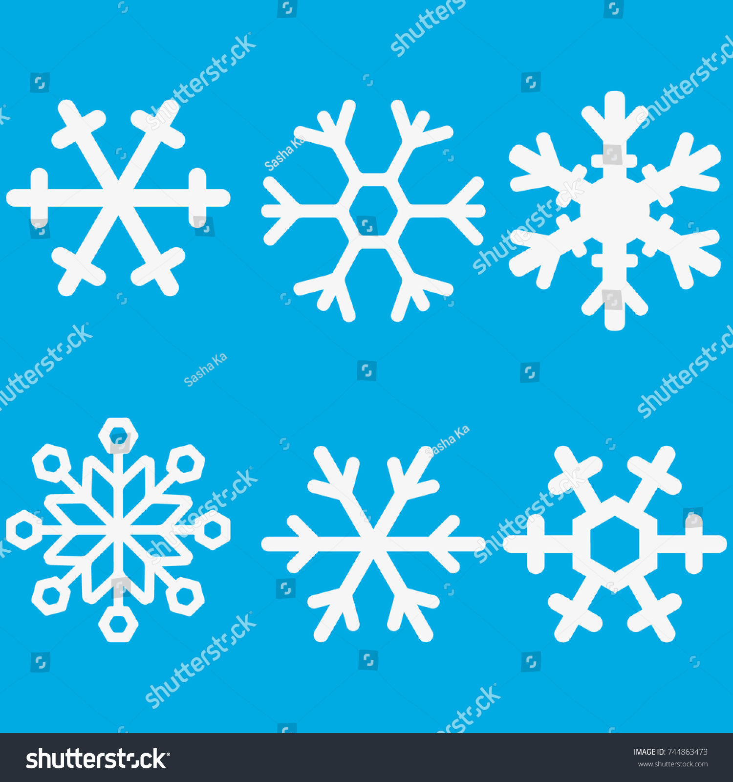 White snowflake background vector