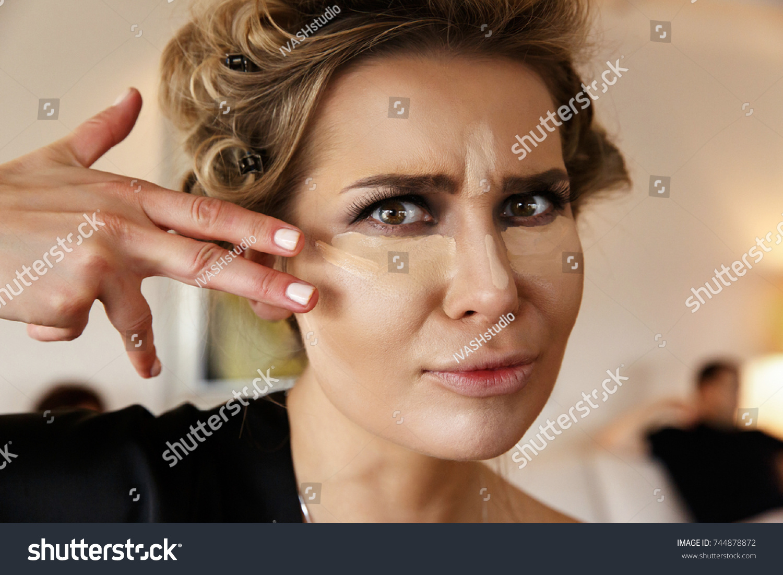 Pretty Woman Dark Smokey Eyes Makeup Stock Photo Edit Now