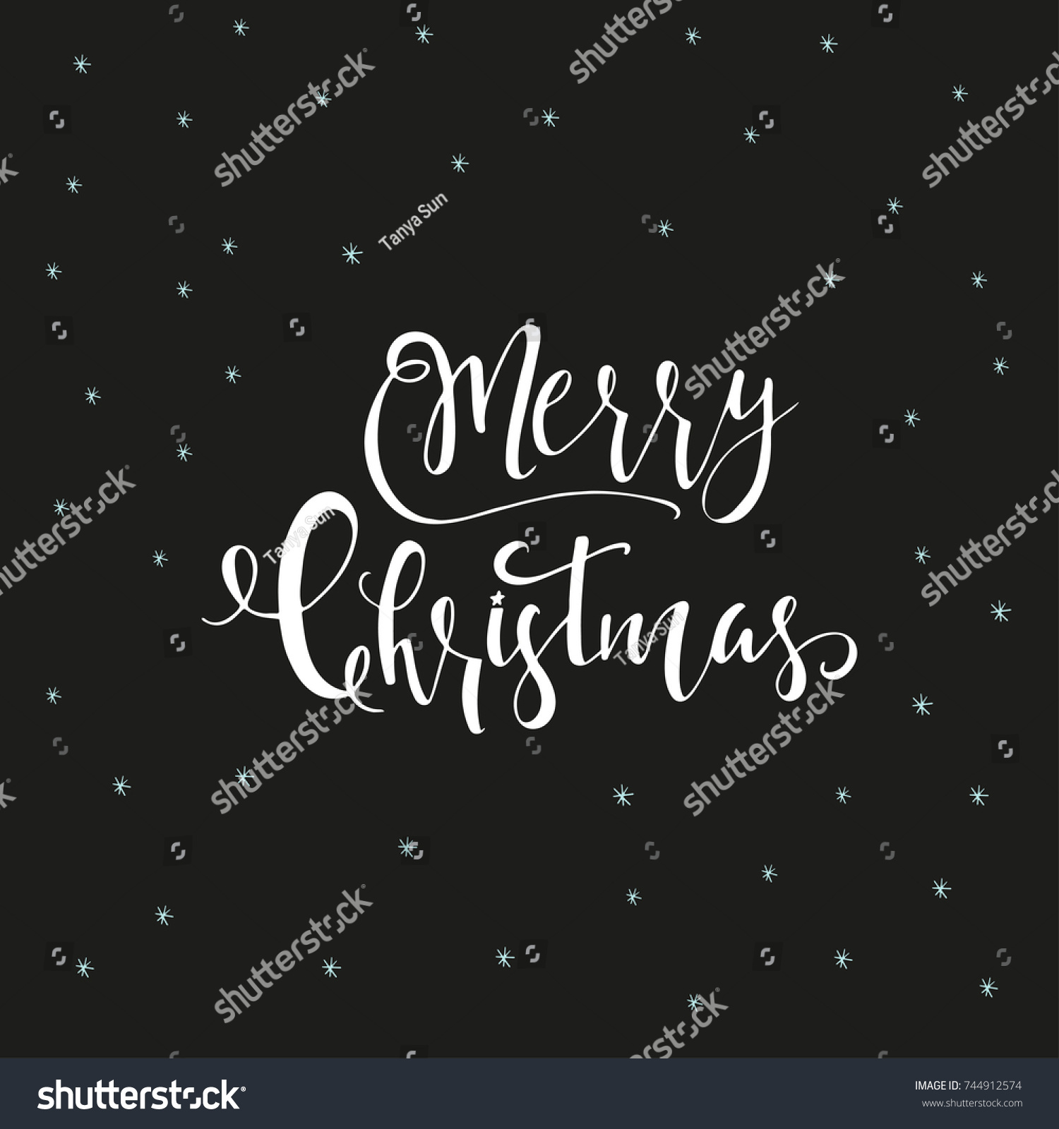 Wonderful Unique Handwritten Christmas Wishes Holiday Stock Vector