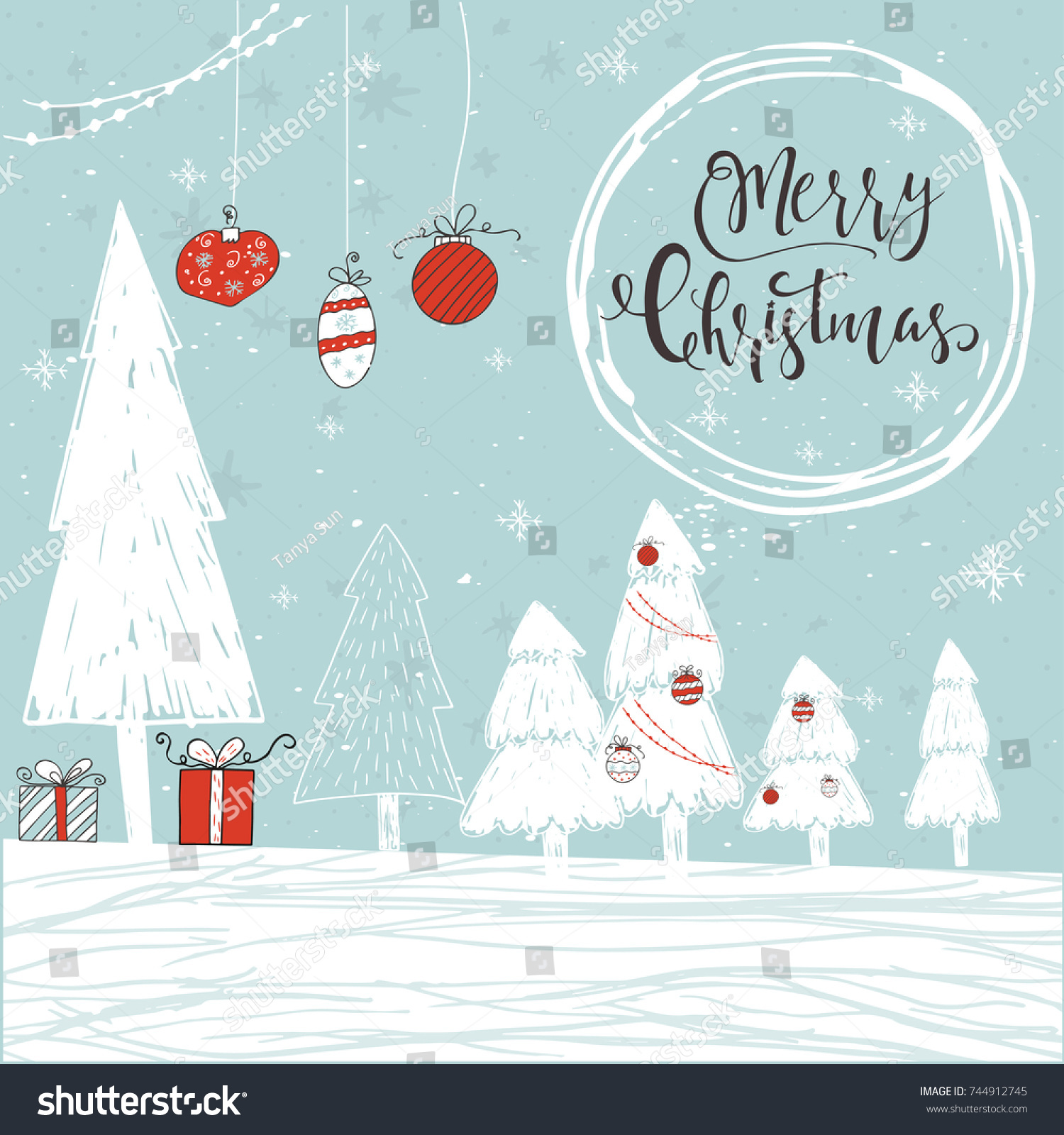 Cute Christmas Gift Card Lettering Quote Stock Vector (Royalty Free ...
