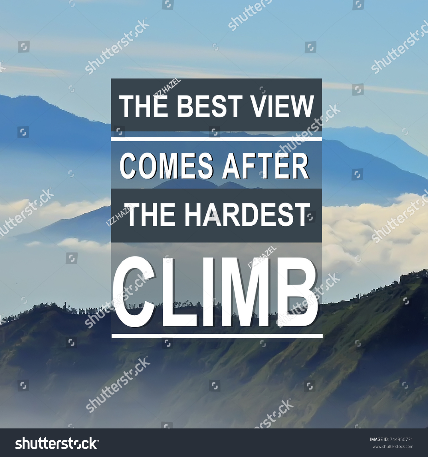 Top Motivational Quotes Motivational Inspirational Quotes Background Top Mountain Stock