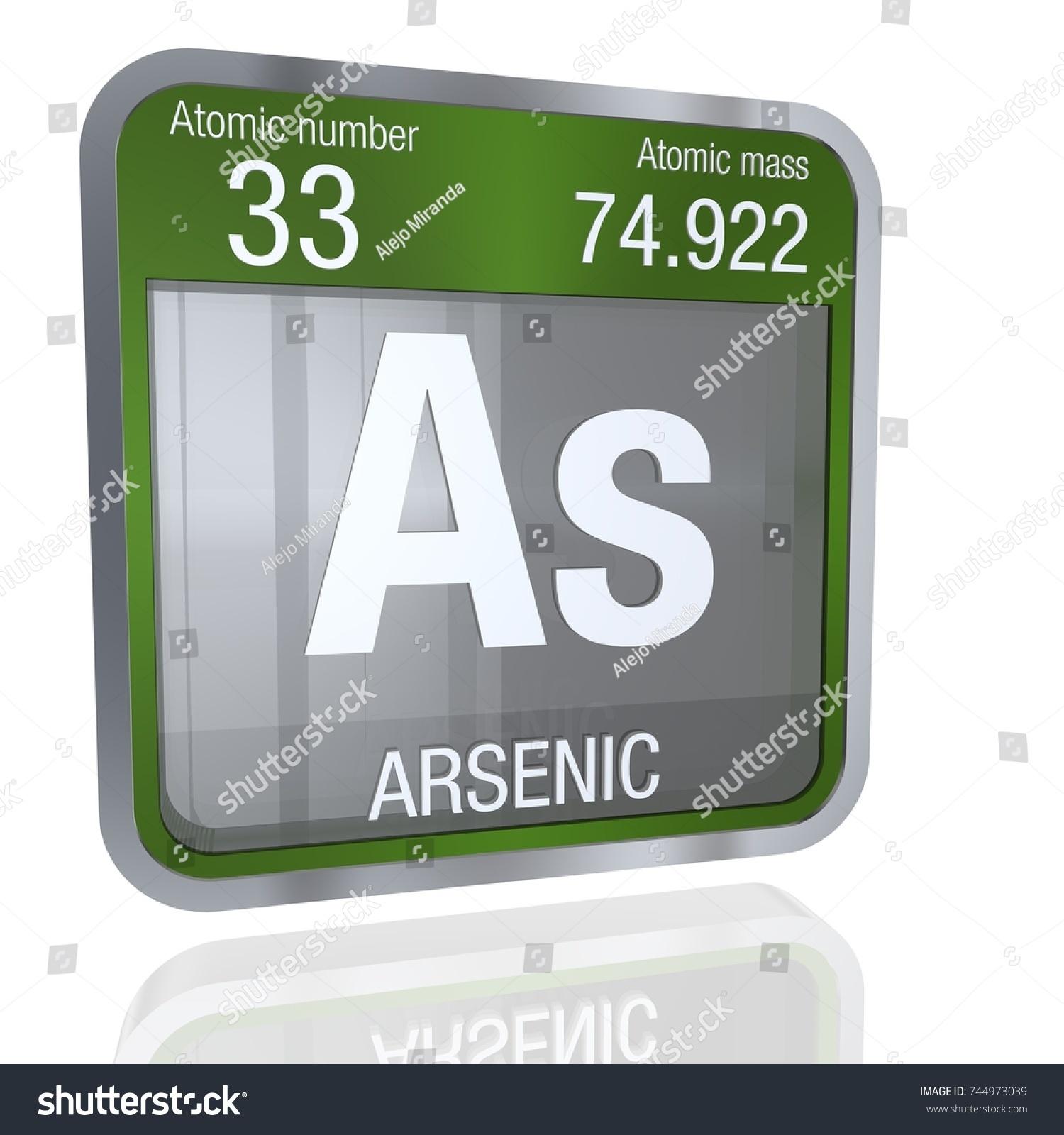 Arsenic symbol square shape metallic border stock illustration arsenic symbol in square shape with metallic border and transparent background with reflection on the floor biocorpaavc Image collections