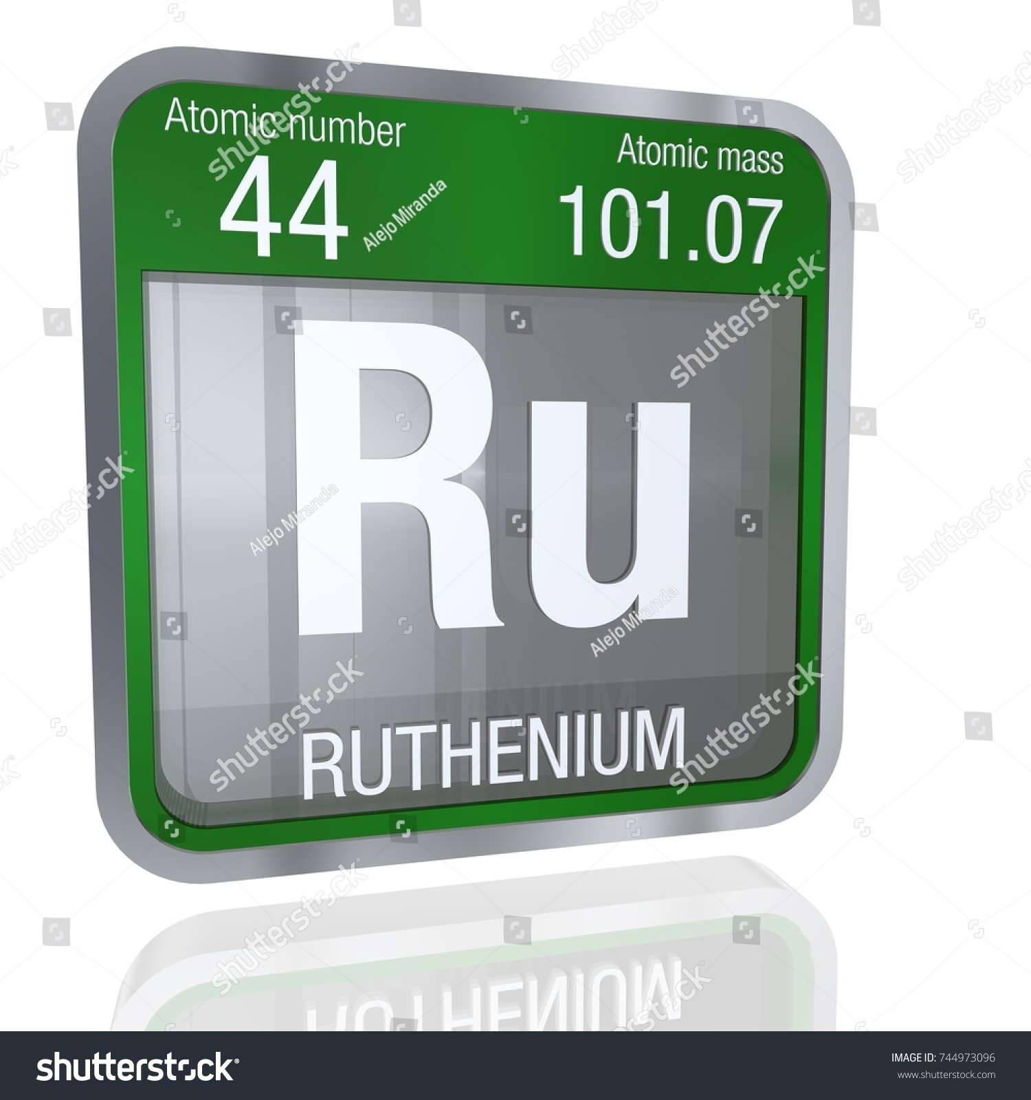 Ruthenium symbol square shape metallic border stock illustration ruthenium symbol in square shape with metallic border and transparent background with reflection on the floor gamestrikefo Choice Image