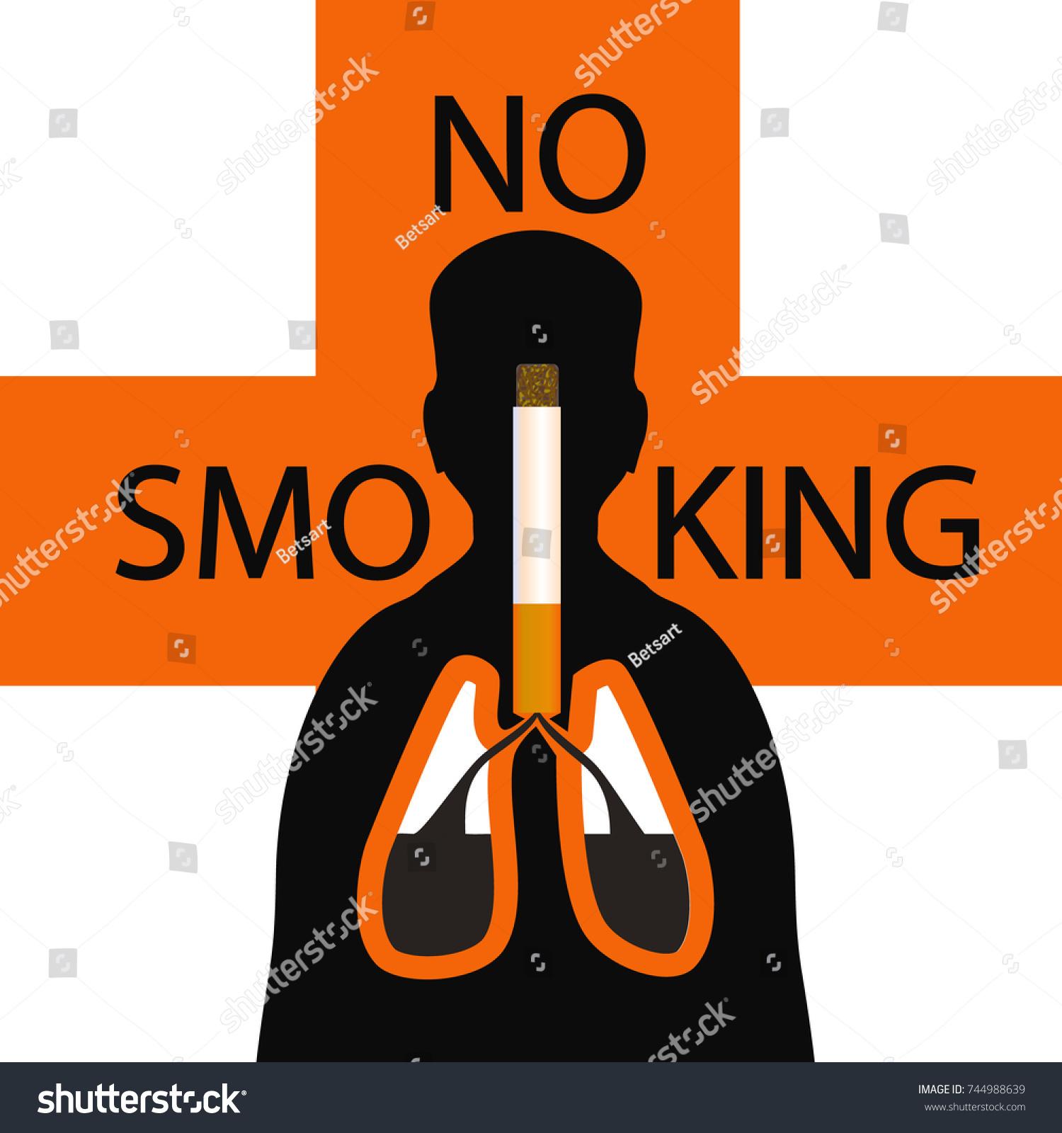 World No Smoking Day No Tobacco Stock Vector Royalty Free 744988639