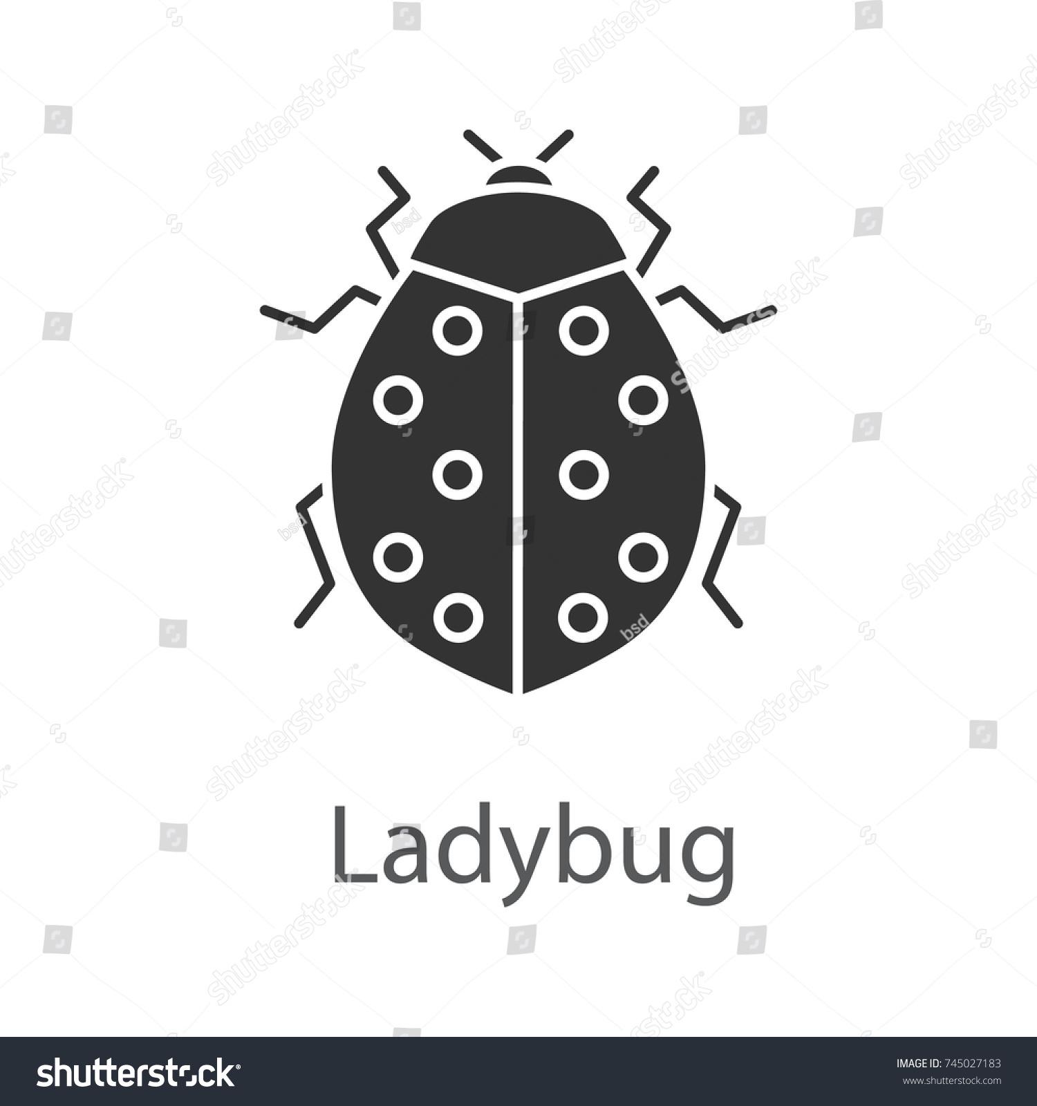 Ladybug Glyph Icon Ladybird Insect Silhouette Stock Vector (Royalty ...