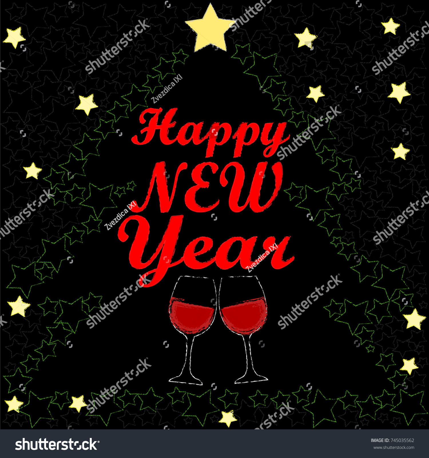 happy new year toasting glasses of wine