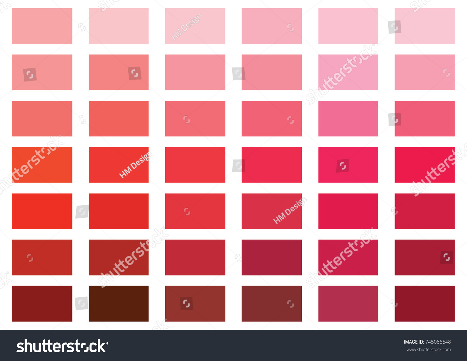 Red Color Palette Vector Illustration Stock Vector 745066648 ...