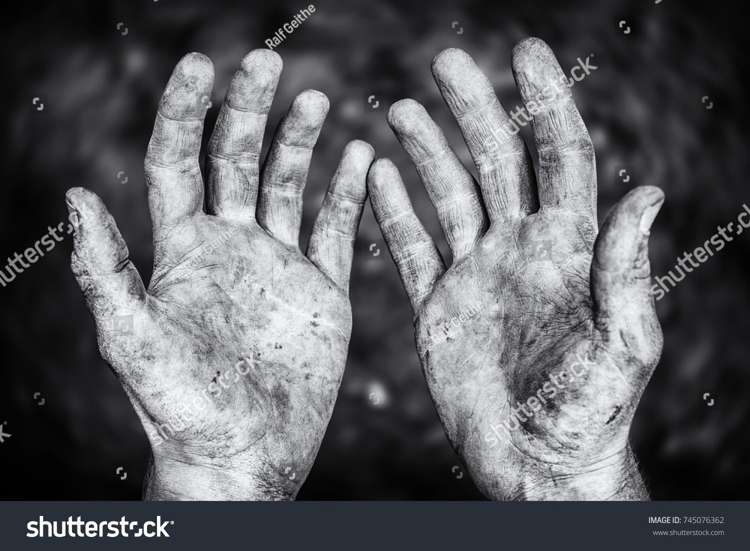 Hard-working hands #745076362