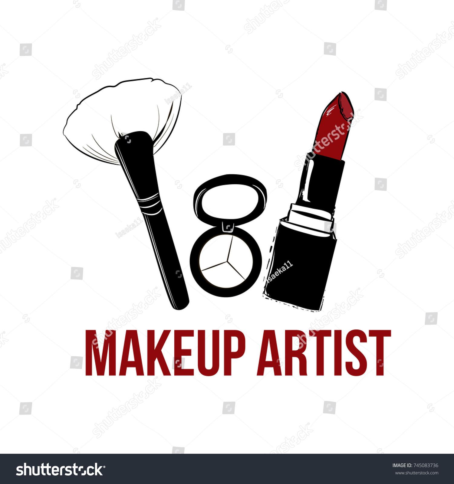 Makeup artist logo banner business card stock vector 745083736 makeup artist logo banner business card and logo concept beauty set for make magicingreecefo Image collections