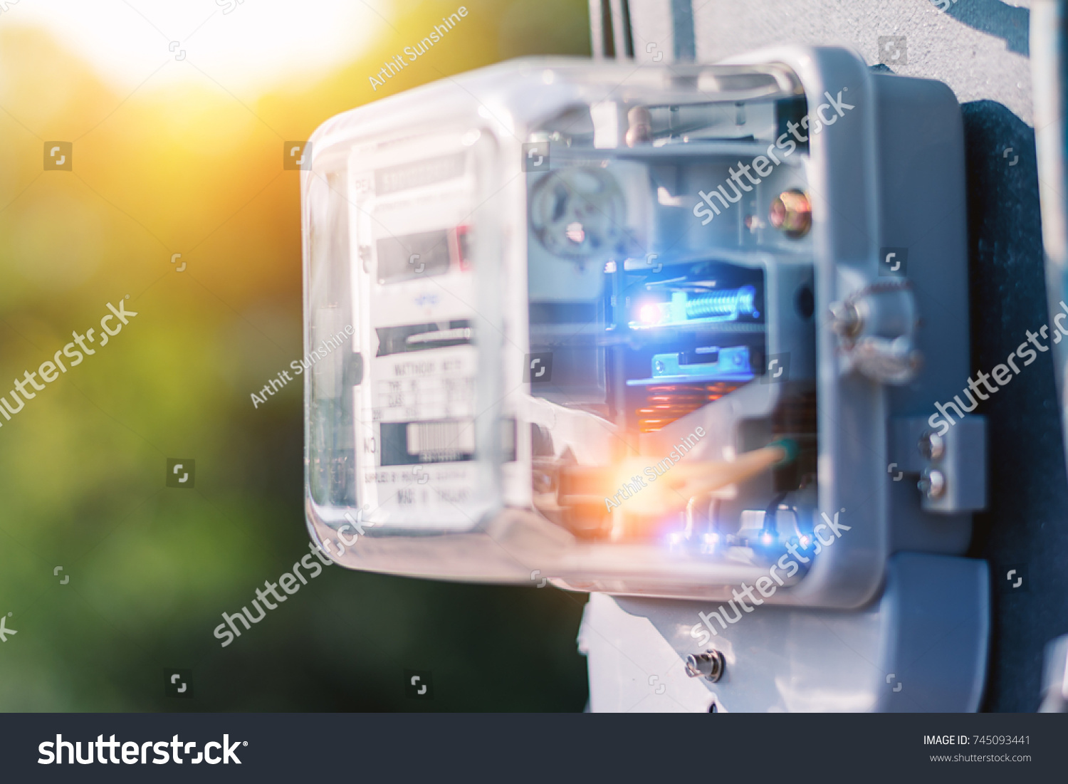 Watthour Meter Electricity Use Home Appliance This Stock Photo Edit In The Of For Appliancethis Is A Modern Technology That