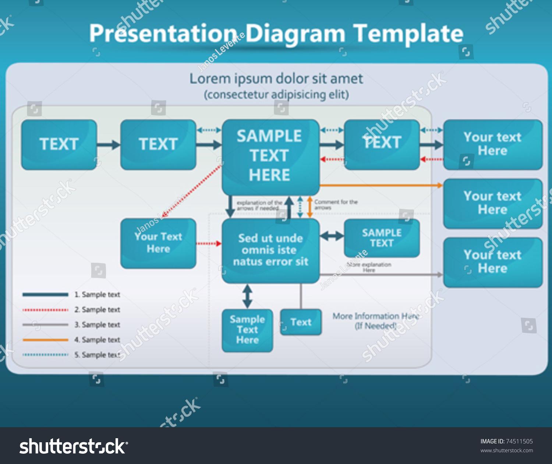 presentation diagrams arrows stock vector 74511505 - shutterstock, Powerpoint templates