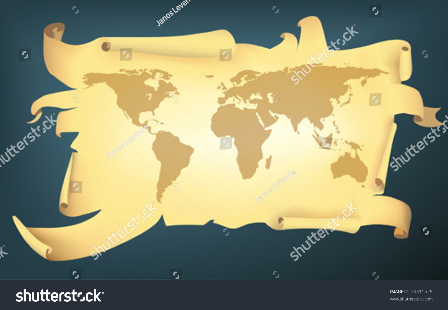 Cartoon style torn map earth stock vector 74511526 shutterstock gumiabroncs Image collections