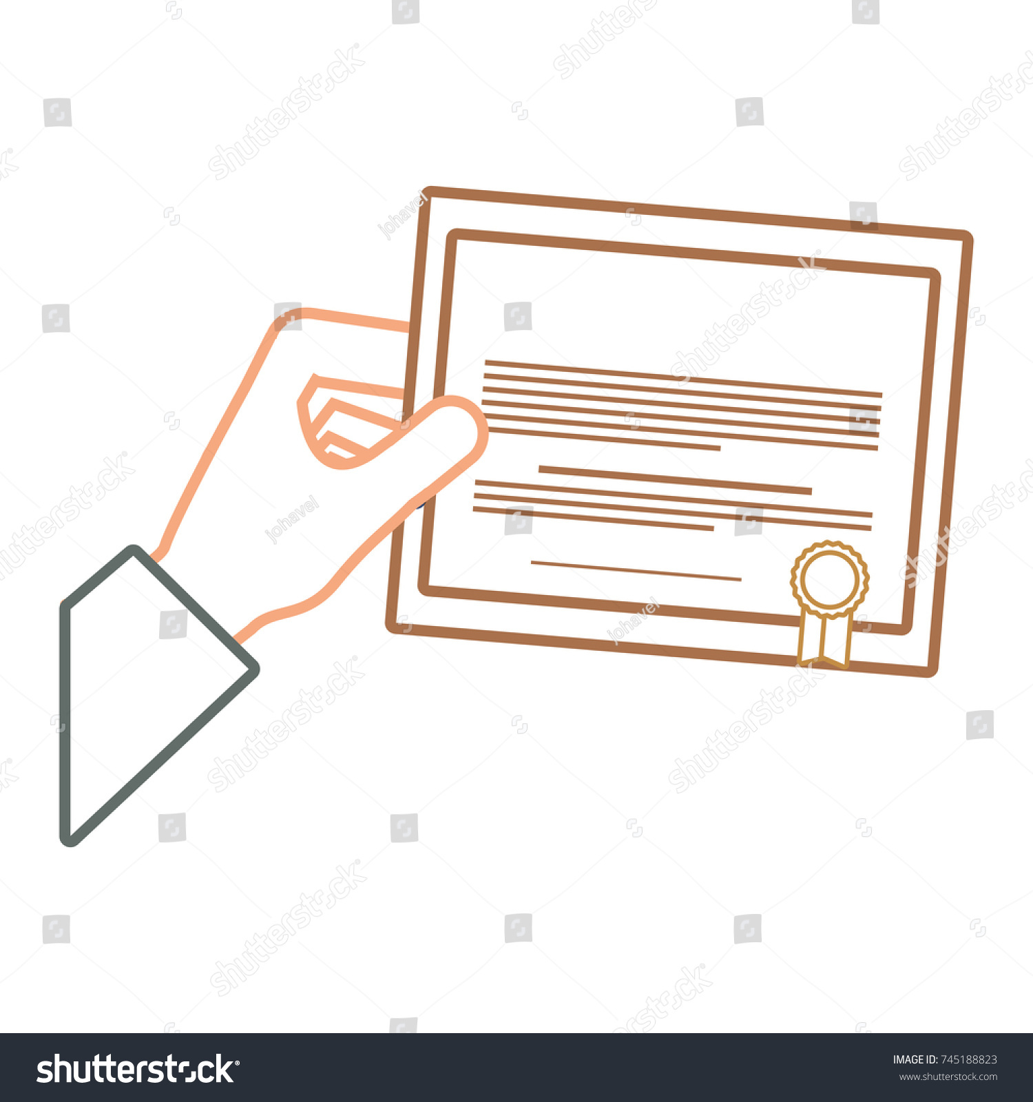 Certificate graduation vector illustration stock vector 745188823 certificate of graduation vector illustration xflitez Images