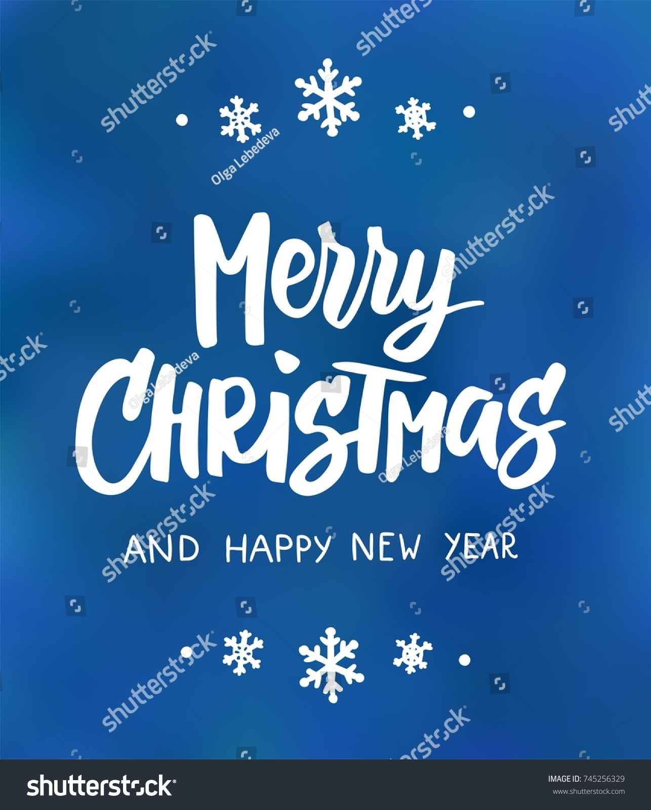 Merry Christmas Happy New Year Text Stock Vector Royalty Free
