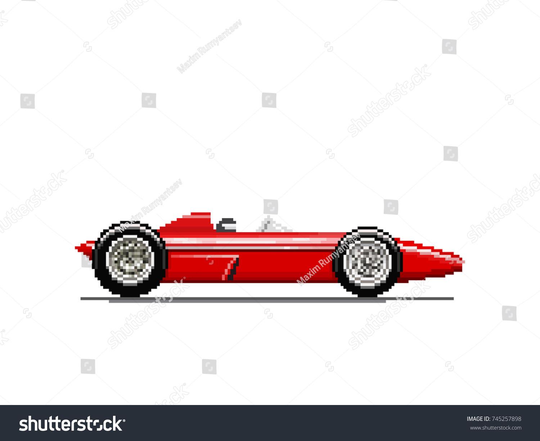 Pixel old race car