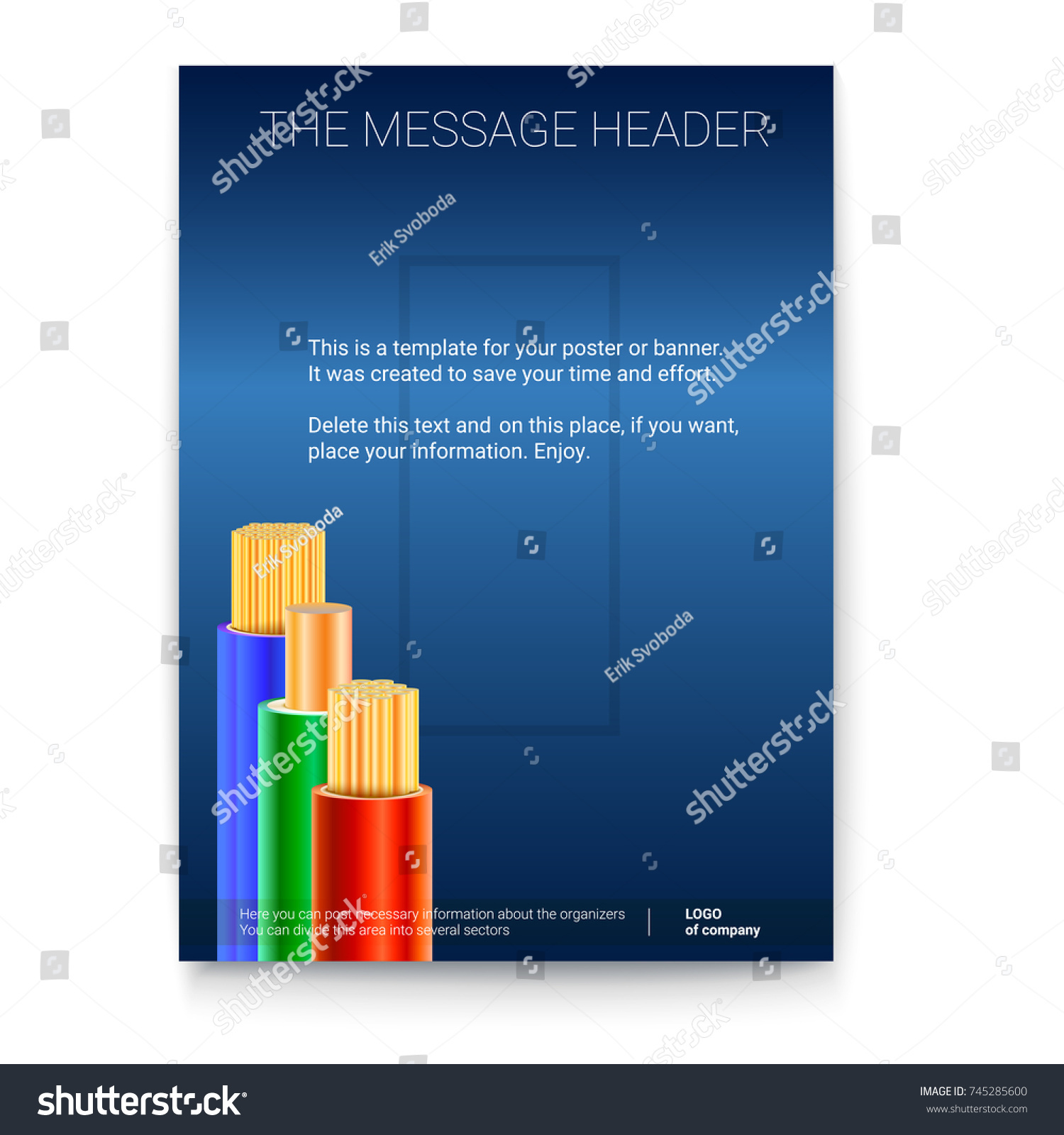 Electric Cables Colored Braid Vertical Print Stock Vector 745285600 ...