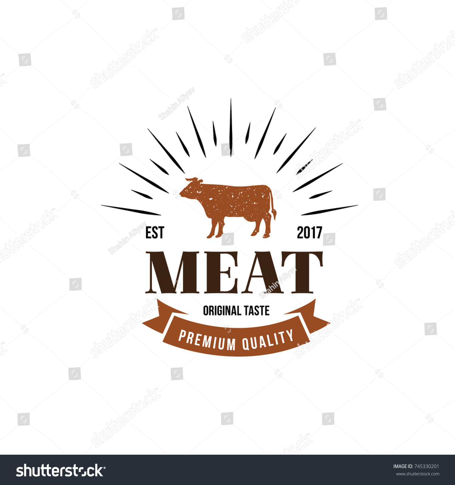Meat logo emblem cow symbol flat stock vector 745330201 shutterstock cow symbol flat isolated graphic illustration design buycottarizona